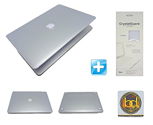 Kit Capa Hardcase Macbook White 13,3 - com drive CD/DVD (Transparente) + Protetor Teclado + Brinde
