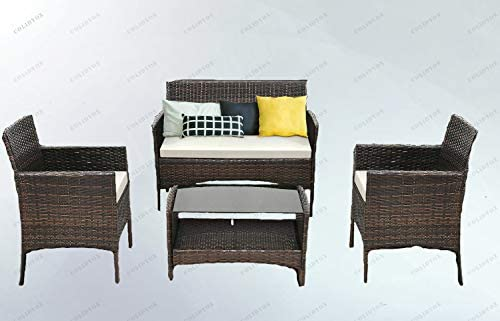 Amazon.com: COLIDOX>>> 4 PCS Outdoor Patio Rattan Furniture ...