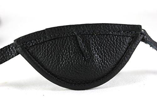 Leather Eyepatch. Slight Convex Eye Patch (Right