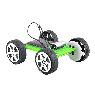 Fashionclubs 4pcs/set Children DIY Assemble Solar Power Car Toy Kit Science Educational Gadget Hobby: Toys & Games