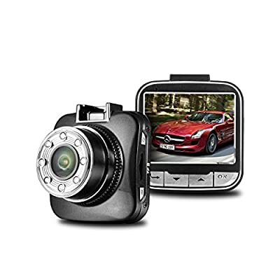 SENWOW Full HD 1080P Dash Cam, 2.0 inch 170 Degree Angle View HD Dash Cam Dashboard Camcorder Vehicle Camera with G-Sensor, Night vision, WDR, 6-Glass Lens, Motion Detection, Come with 32GB TF Card by SENWOW