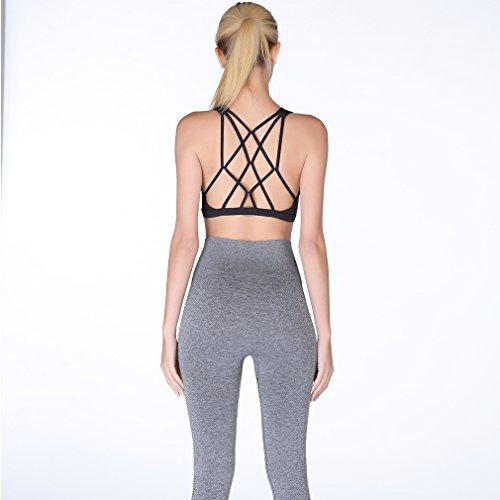 Andy Pansy Women Multi-Strap Cross Beauty Back Yoga Micro Gather Sports Bra