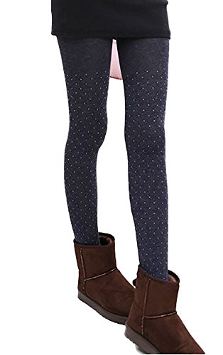 Lovely Annie Women's 2 PairsFashion Stretch Legging One Size (Gray)