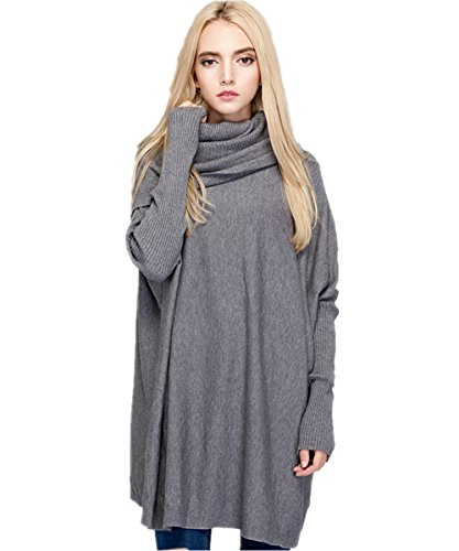 Womens Loose Cuffs Knit Top Cable Oversized Pullover Sweaters