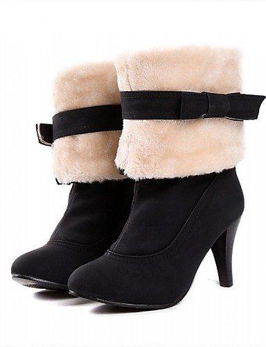 Noir-us6   eu36   uk4   cn36 XZZ  Chaussures Femme - Bureau & Travail   Habillé   Décontracté - Noir   Bleu   Rose   Beige - Talon Cône - Bout Arrondi   Bottes à la Mode -