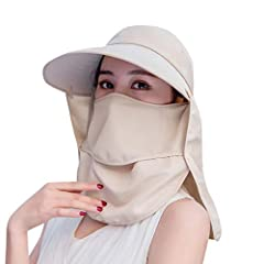 Description:1. Prevent UV skin burns2. Super breathable function Occasion: OutdoorsSize: Fress Material:CottonThe color of the actual project may be slightly different from the above. Package Included:1x Hat+1X Mask