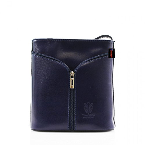 Womens Designer Real Leather Cross Body Bag Ladies Shoulder Handbag New Navy