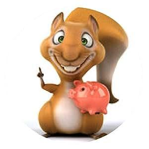 alfombrilla de ratón Ardilla - ronda - 20cm