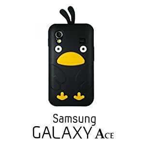 OnlineBestDigital - Chick Style Soft Silicone Case for Samsung Galaxy Ace - Black