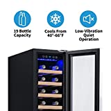 NewAir Built-In Wine Cooler and Refrigerator, 19