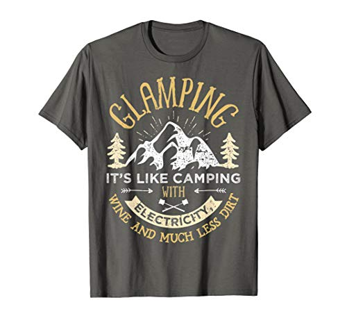 Glamping Definition T shirt Glamper Women Wine Funny Camping (Glamping Gear)