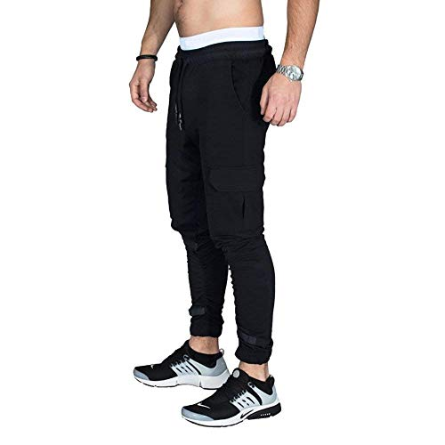 Borse Sportivi Chino Coulisse Uomo Regular Patch Battercake Con Da Nero Fitness Outdoor Comodo Pantaloni Camo RXxnqqgF