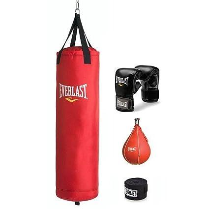9154b2f61691 Amazon.com   Everlast BOXING TRAINING KIT   Heavy Punching Bags ...