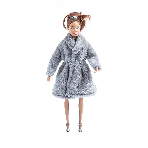oat Flannel Outfit Doll Accessories for Barbie Doll Xmas Gift(Gray) ()