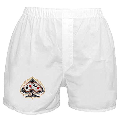 Royal Lion Boxer Short (Shorts) Four of a Kind Poker Spade - Large (Boxers Poker)