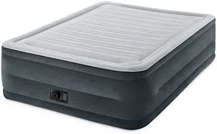 Intex Comfort Plush Elevated Dura-Beam Airbed Built-in Electric Pump, Bed Height 22