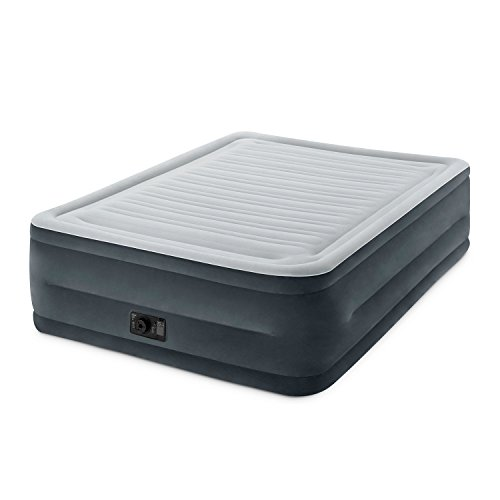 Double Guest Bed (Intex Comfort Plush Elevated Dura-Beam Airbed with Built-in Electric Pump, Bed Height 22