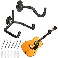 TTCR-II Soporte guitarra pared horizontal, colgador guitarra pared eléctrica acústica clásica, colgadores de pared…