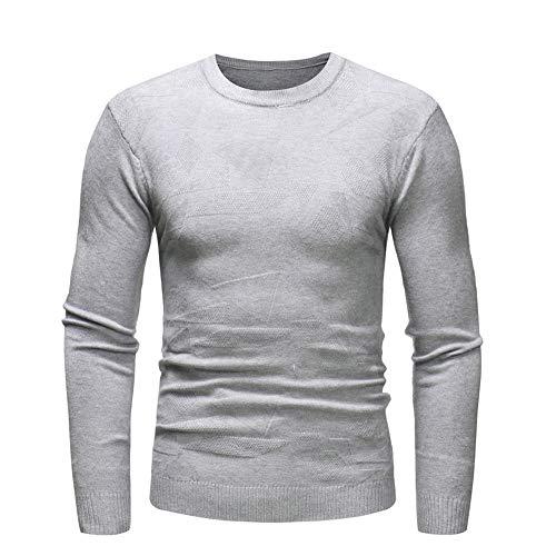 iYBUIA Men's Autumn Winter Pure Sweater Pullover Slim Jumper Knitwear Outwear Blouse(Gray,S) -