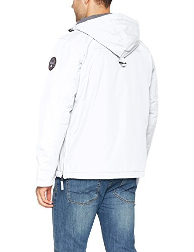 Napapijri Winter Bianco Giacca Uomo White Rainforest 002 bright U5wqrzUfA