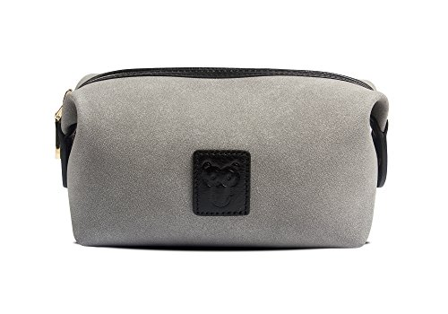 Handmade Suede Leather Makeup Bag Waterproof Womens Storage Purse Clutch For Work And Travel By CHARMING