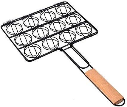 Barbecue Barbecue Net Maille Viande Pratique En Acier Pliable Poignée En Bois Outil Durable Portable Pique-Nique En Plein Air Clip Pratique