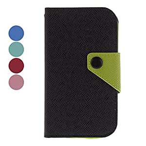 Color Matching PU Leather Protective Case for Samsung Galaxy S3 I9300 (Assorted Colors) --- COLOR:Black
