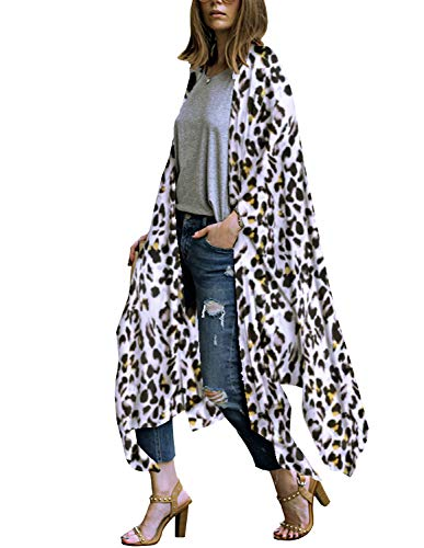 - Womens Beach Kimonos Cover ups Lightweight Cardigans Sexy Long Robe XL