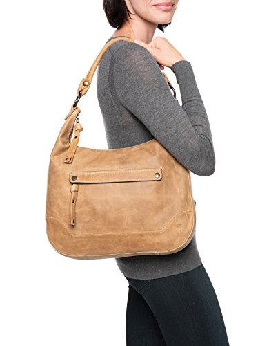 FRYE Leather Beige Hobo Zip Melissa Handbag rqaAwprv