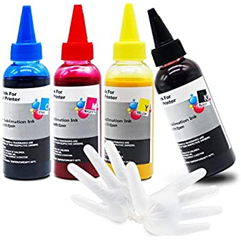 Anti-UV Sublimation Ink for Epson C88 C88+ WF7610 WF7010 WF7710 WF7110 WF3640 WF3610 WF3540 ET-2650 ET-2750 ET-3750 ET-4750 Heat Press Transfer on Mugs, Pillow, Polyester Shirts, Phone Cases etc