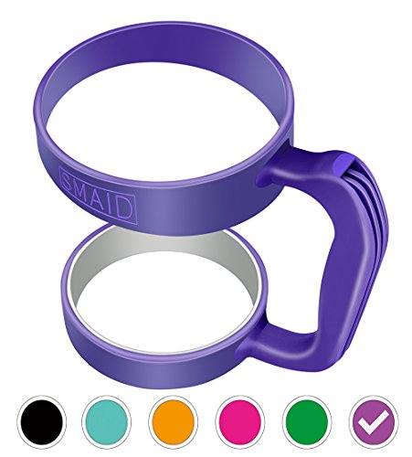 Smaid Anti Slip Rubber Handle for 30 oz Tumblers - Purple