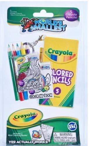 Super Impulse World's Smallest Crayola Coloring Set - Novelty Toy -
