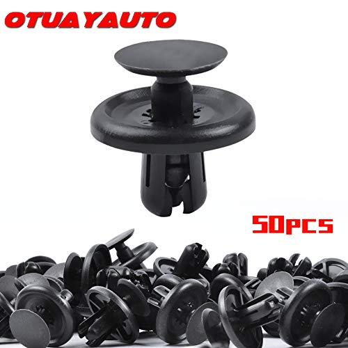 OTUAYAUTO 50PCS Plastic Retainer Clips, Engine Cover Fasteners Clips for Lexus & Toyota 2002-2019, Splash Shield Clips Replace OEM: 90467-07201 2002 Toyota Camry Engine