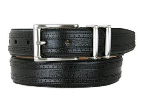 Mezlan Men's Belts Men's Tyson II Deerskin Belt, black, B400