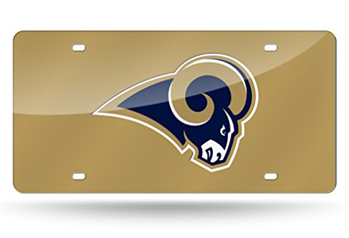 St. Louis Rams License Plate Laser Cut Gold by Scorehere