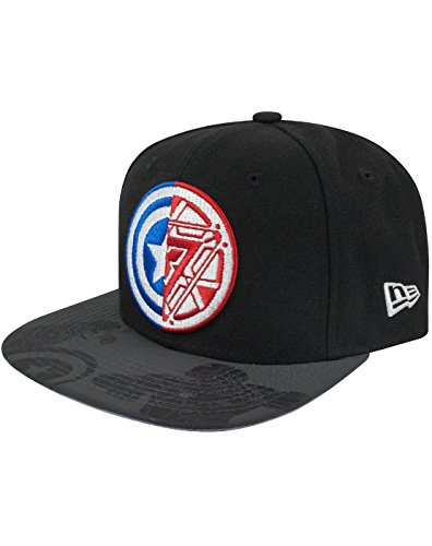 New Era 9Fifty Captain America Civil War Logo Viza Print Snapback Cap (S-M)