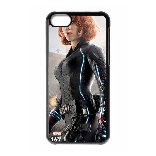 Avengers Age Of Ultron coque iPhone 5C Housse téléphone Noir de couverture de cas coque EBDOBCKCO12014