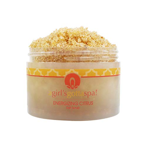 - Dead Sea Salt Body Scrub Citrus Essential Oils, Avocado Oil, Green Tea Extract Exfoliating Dry Skin, 10oz Jar Free Wooden Spoon