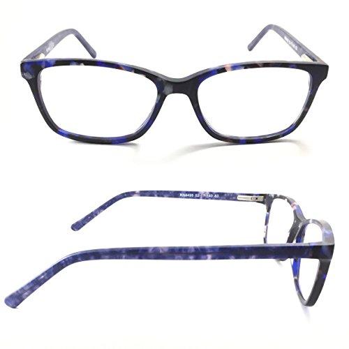 Kuna Bloom Anti-Blue Light Computer Glasses (Matte Frame - Blue - Matte Glasses Tortoise
