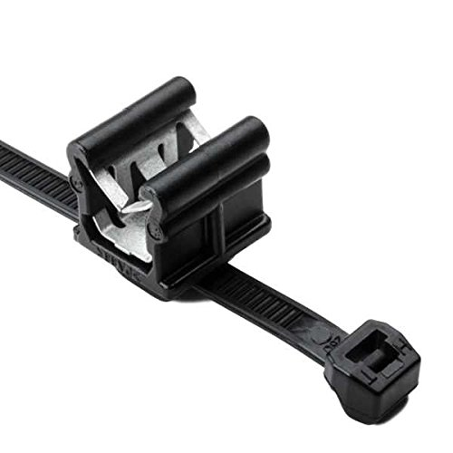 Hellermann Tyton 156-00873 Cable Tie and Edge Clip, 50 lbs, 8.0' Long, EC20, Panel Thickness .12'-.24', PA66HS, Black (Pack of 500) 8.0 Long Panel Thickness .12-.24