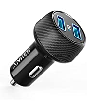 Anker 24W Car Charger 2-Port 4.8A Ultra-Compact PowerDrive 2 Elite with PowerIQ Technology for iPhone X / 8/7 / 6s / Plus, iPad Pro/Air/Mini, Galaxy Note/S Series, LG, Nexus, HTC and More
