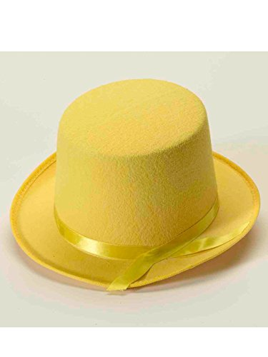 Forum Novelties Men's Deluxe Adult Novelty Top Hat, Yellow, One Size