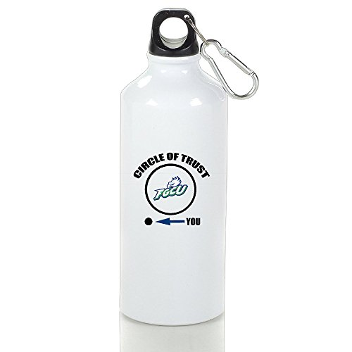 ZOENA FGCU Eagles Circle Of Trust High Quality Custom Outdoor Sport Kettle Cups White With Carabiner Hook,400-600ml /6.5OZ ()