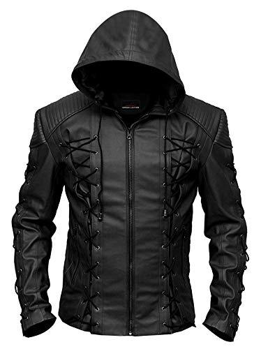 Horizon Leather Symmetric Motorcycle FAUX Leather Jacket for Men   Leather Jacket for Men