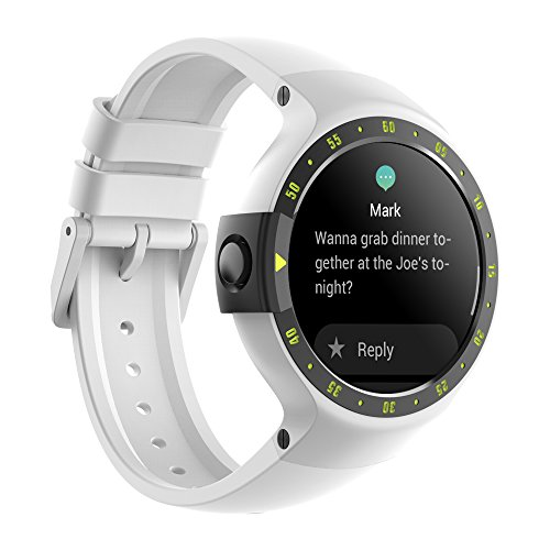 TicWatch S Smart Watch, Wear OS by Google Smart Watch, Compatible with iPhone and Android Device (Glacier)
