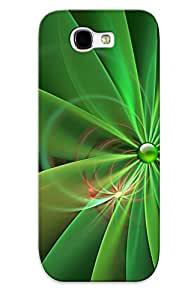 Exultantor High Grade Flexible Tpu Case For Galaxy Note 2 - Petals( Best Gift Choice For Thanksgiving Day)