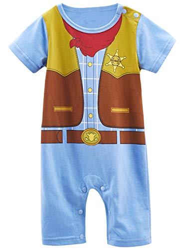 Mombebe Baby Boys' West Cowboy Costume Romper (12-18