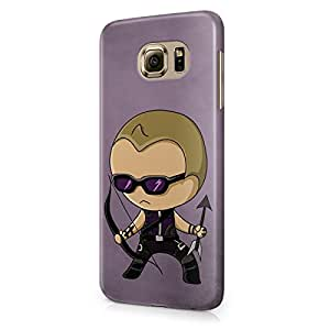 Chibi Hawkeye The Avengers Superhero Hard Snap-On Protective Case Cover For Samsung Galaxy S6 (Not Edge)