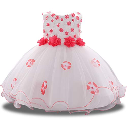 Semi Formal Themes (Baby Toddler Princess Lace Flower Girl Dress Fancy Elegant Evening Ruffle Semi Formal Church Easter Girls Dresses Clothes 12 18 24M)
