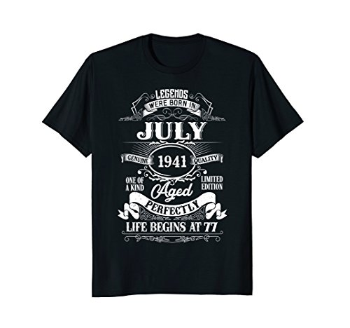 Legends Were Born In July 1941, 77th Birthday Gift Shirt